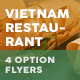 Vietnamese Restaurant Menu Flyers 4 – 4 Options