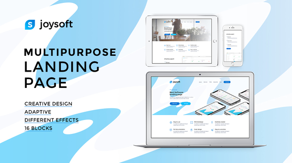 Joysoft – Multipurpose Landing Page Template