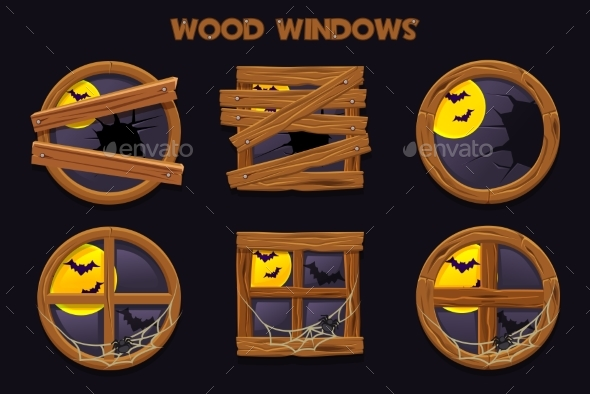 Different Shape and Old Shattered Wood Windows - Man-made Objects Objects