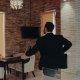 With a Good Mood Worker Comes To Work in the Office Dancing and Smiling - VideoHive Item for Sale