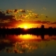 Landscape with Sunrise Over Lake - VideoHive Item for Sale