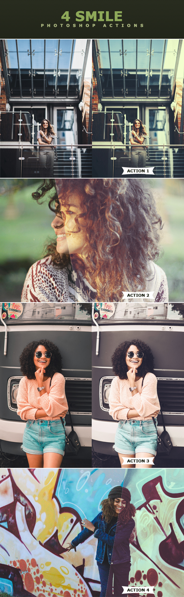 Smile Photoshop Actions - Photo Effects Actions