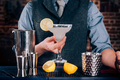 Bartender serving drinks at bar, pub or restaurant. Cocktail, alcoholic beverages at bar - PhotoDune Item for Sale