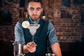 Handsome bartender, barman serving fresh made alcoholic beverage, margarita cocktail - PhotoDune Item for Sale
