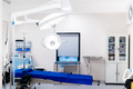 close up details of surgical lamps in empty operating room. - PhotoDune Item for Sale
