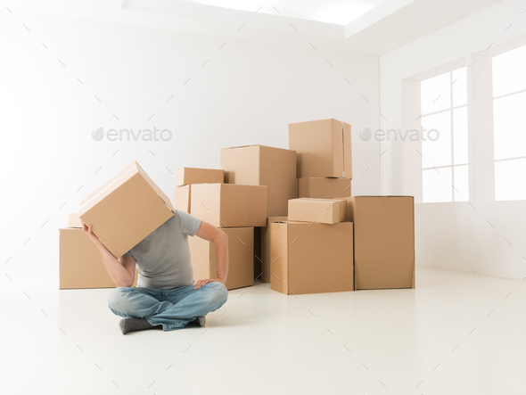 all this moving has made me tired - Stock Photo - Images