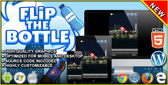 Flip The Bottle - HTML5 Skill Game - CodeCanyon Item for Sale