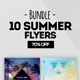10 Summer Flyers - Bundle 70% OFF - GraphicRiver Item for Sale