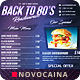 Back To 80's Food Menu - A4 & US Letter - GraphicRiver Item for Sale