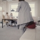 Dolly Shot of Two Female Colleagues Get Up From Office Couch, Walk Away in Modern Office. View - VideoHive Item for Sale