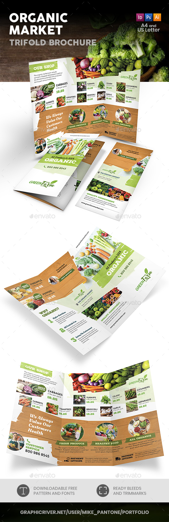 Organic Market Trifold Brochure 3 - Informational Brochures
