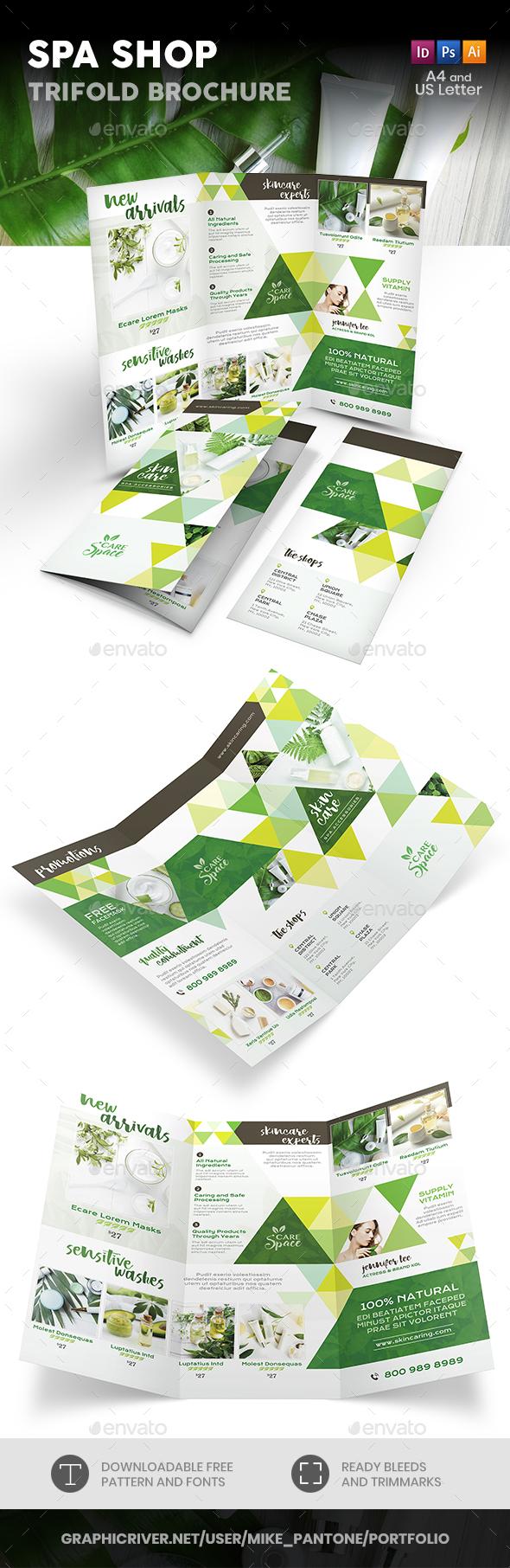 Spa Shop Trifold Brochure - Informational Brochures
