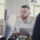 Mixed Ethnicity Colleagues Talk and Cooperate in Modern Stylish Loft Coworking. Young People Work in - VideoHive Item for Sale