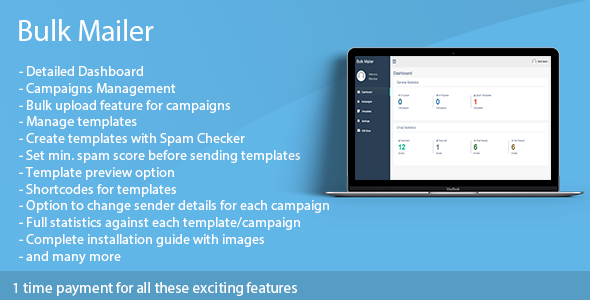 Bulk Mailer - mass email software            Nulled