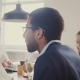 African American Businessman Leading Multiethnic Office Meeting. Young Confident Business People - VideoHive Item for Sale