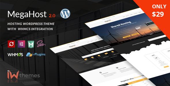 Hosting WordPress theme with WHMCS - MegaHost - Hosting Technology
