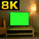Green Screen Television at Home - VideoHive Item for Sale