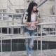 Portrait of a Fashionable Girl in the City - VideoHive Item for Sale