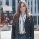 Portrait of a Hipster Girl in the City. Young Blond Girl with Blue Eyes in a Black Leather Jacket - VideoHive Item for Sale