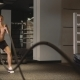 Man Working Out with Ropes - VideoHive Item for Sale