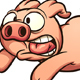 Scared Running Pig - GraphicRiver Item for Sale