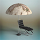 Parasol & sunbed - 3DOcean Item for Sale