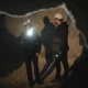 Two Speleologists with Flashlight Exploring the Cave with Fear in Darkness - VideoHive Item for Sale