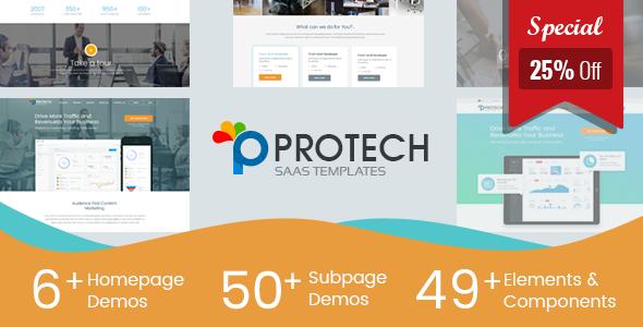 Protech SaaS -  SaaS, Software & WebApp Template - Software Technology