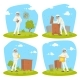 Beekeeping Apiary and Beekeeper Vector Design - GraphicRiver Item for Sale