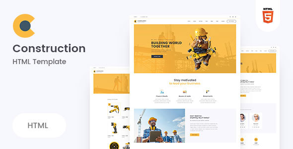 Construction - Clean Construction HTML5 Template - Business Corporate