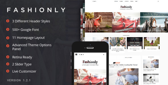 Fashionly - Fashion Blog Theme