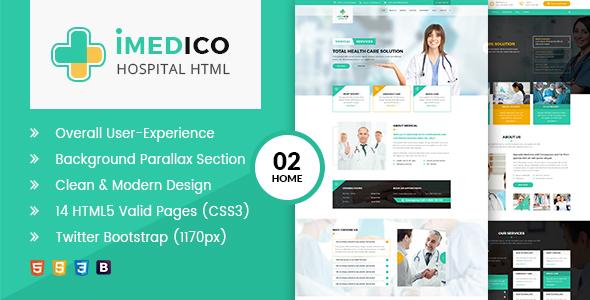Image of iMEDICO Hospital and Health HTML Template