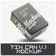 Tin Can Mock-Up v.1 - GraphicRiver Item for Sale