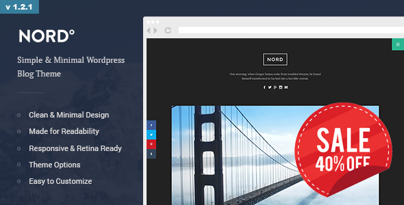 Nord - Simple, Minimal and Clean WordPress Personal Blog Theme (readability, responsive, boxed) - Personal Blog / Magazine