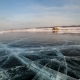 Sunset on the Ice of Lake Baikal - VideoHive Item for Sale