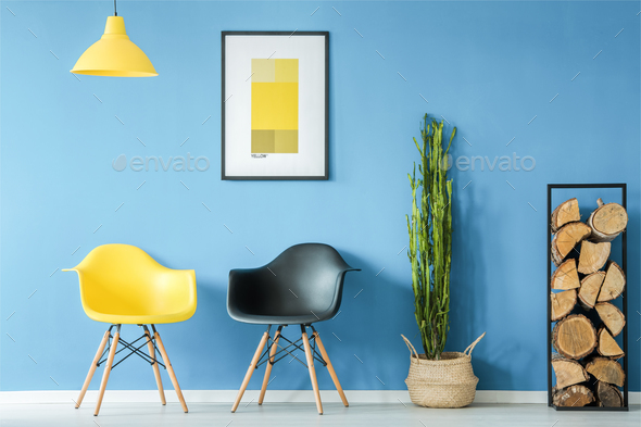 Waiting room in minimal style - Stock Photo - Images