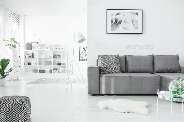 Poster in white open space - Stock Photo - Images
