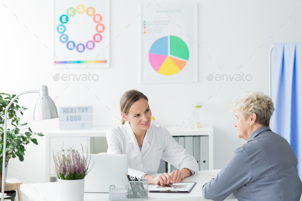Consultation with dietician - Stock Photo - Images