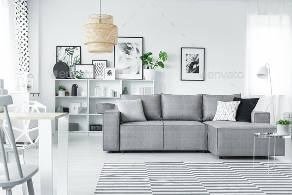 White studio with gallery - Stock Photo - Images