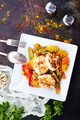 baked vegetables with cutlet - PhotoDune Item for Sale