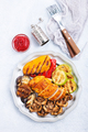 chicken barbecue and grilled vegetables - PhotoDune Item for Sale