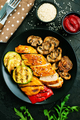 chicken meat with grilled vegetables - PhotoDune Item for Sale