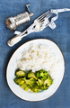 white rice and broccoli - PhotoDune Item for Sale
