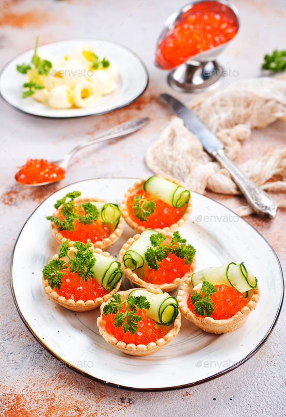 salmon caviar - Stock Photo - Images