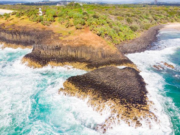 Fingal Head Rocks - Stock Photo - Images