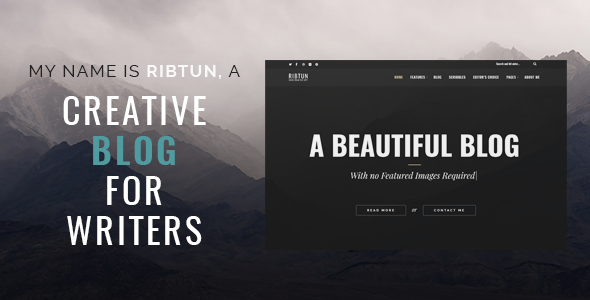 ribtun - wordpress blog theme for writers (personal) RibTun – WordPress Blog Theme For Writers (Personal) ribtun wordpress theme no images featured image