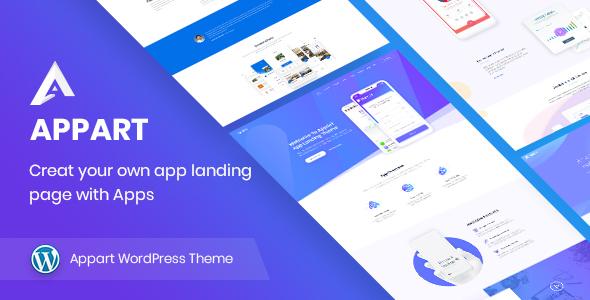 appart - creative app landing wordpress theme (technology) AppArt – Creative App Landing WordPress Theme (Technology) 01 appart preview
