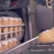 Filled Wafer Cones Are Getting Lowered Onto the Conveyor Belt - VideoHive Item for Sale