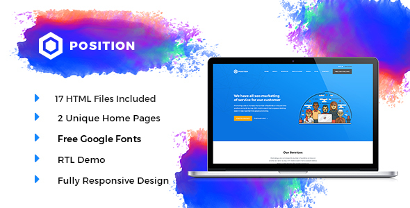 Image of Position HTML5 SEO Marketing Template