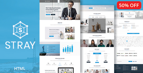 Image of Stray - Business Landing Page HTML Template with RTL